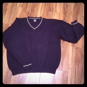 GAP Men's Vintage 90s oversized dark blue sweater